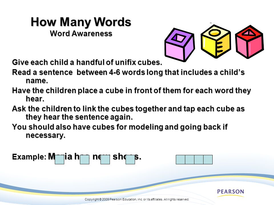 How Many Words Word Awareness
