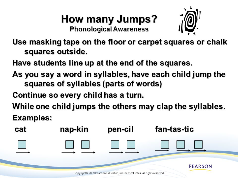 How many Jumps Phonological Awareness