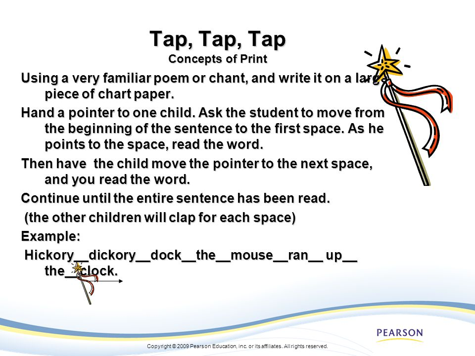 Tap, Tap, Tap Concepts of Print