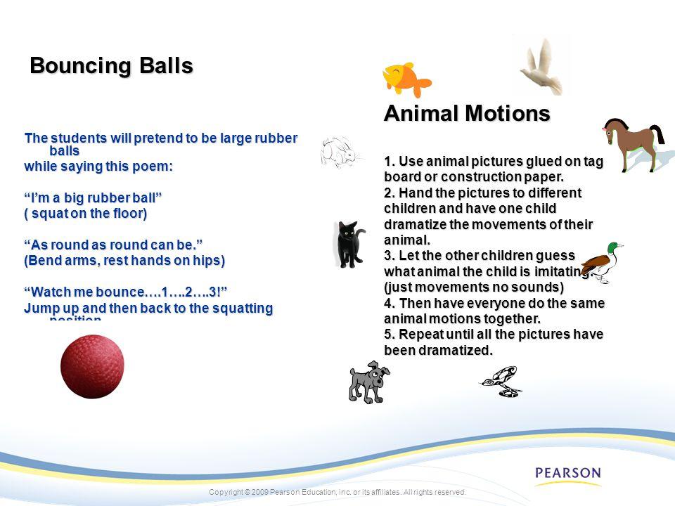 Bouncing Balls Animal Motions