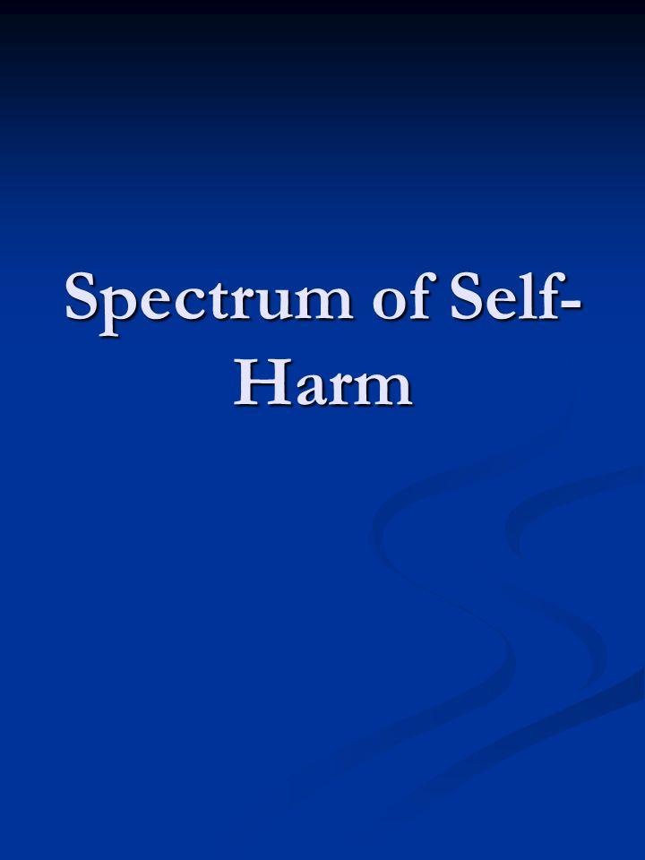 Spectrum of Self-Harm