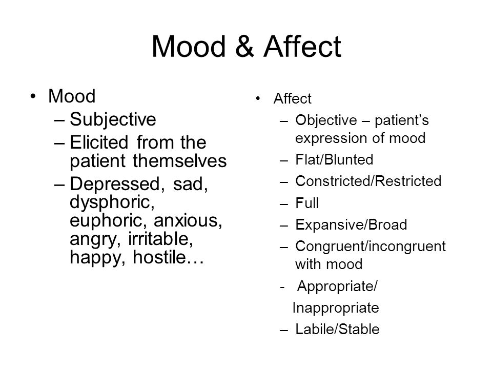 the effect of mood on job Into a mood: getting your dream job may generate the emotion of joy, but it although affect, emotions, and moods are separable in theory, in practice.