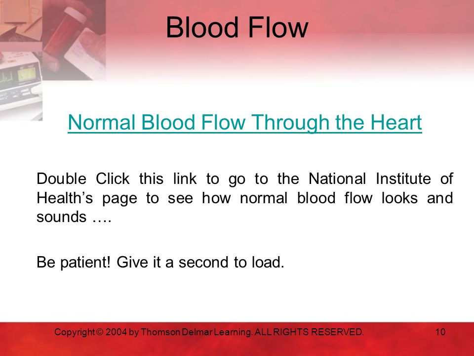 Blood Flow Normal Blood Flow Through the Heart