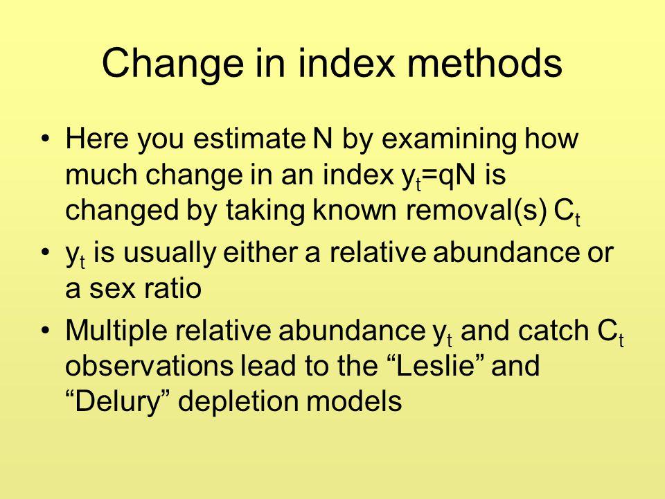 Change in index methods