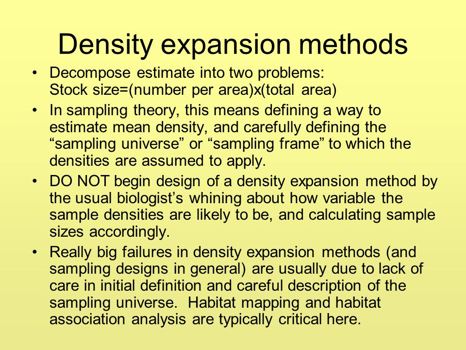 Density expansion methods