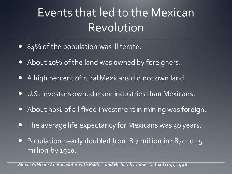 Events that led to the Mexican Revolution