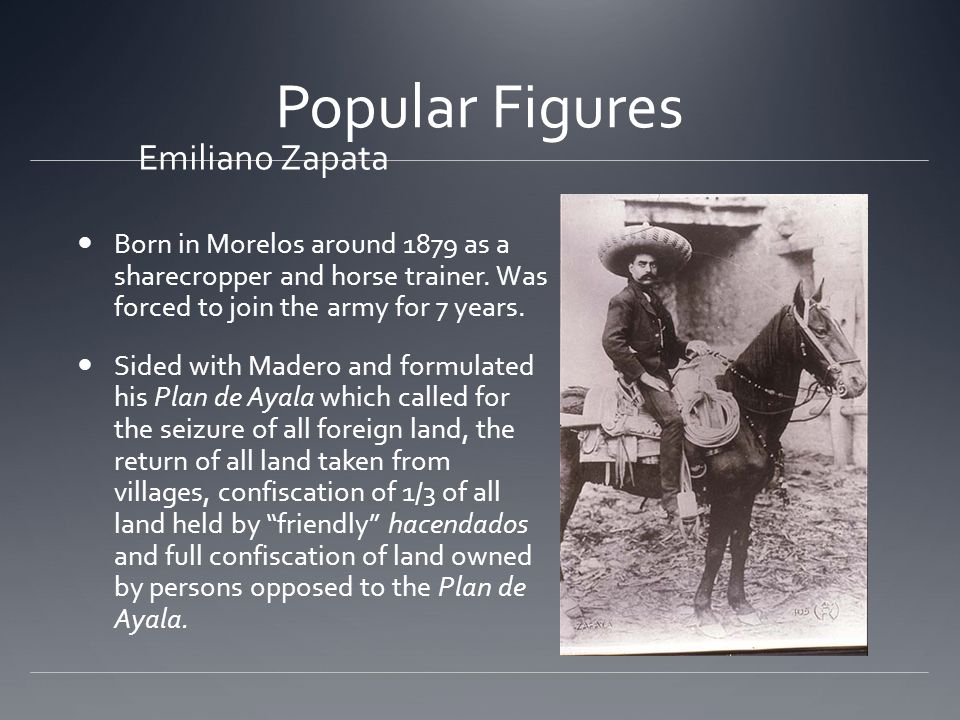 Popular Figures Emiliano Zapata