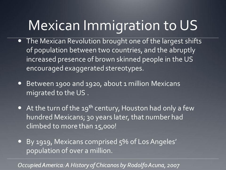 Mexican Immigration to US