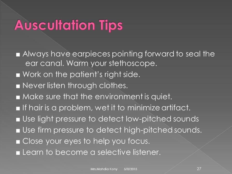 Auscultation Tips