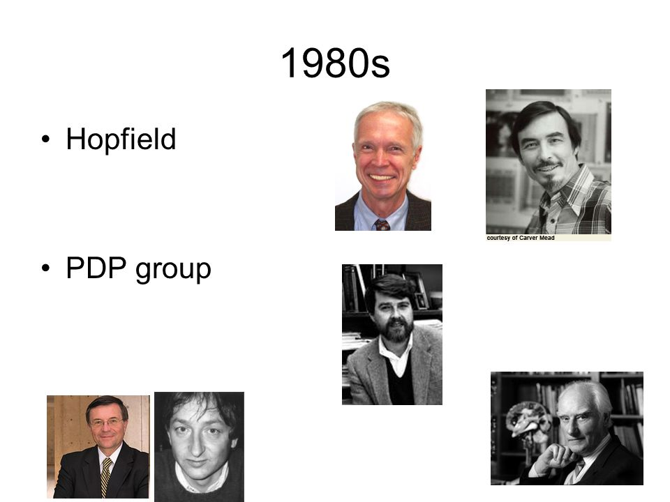 1980s Hopfield PDP group