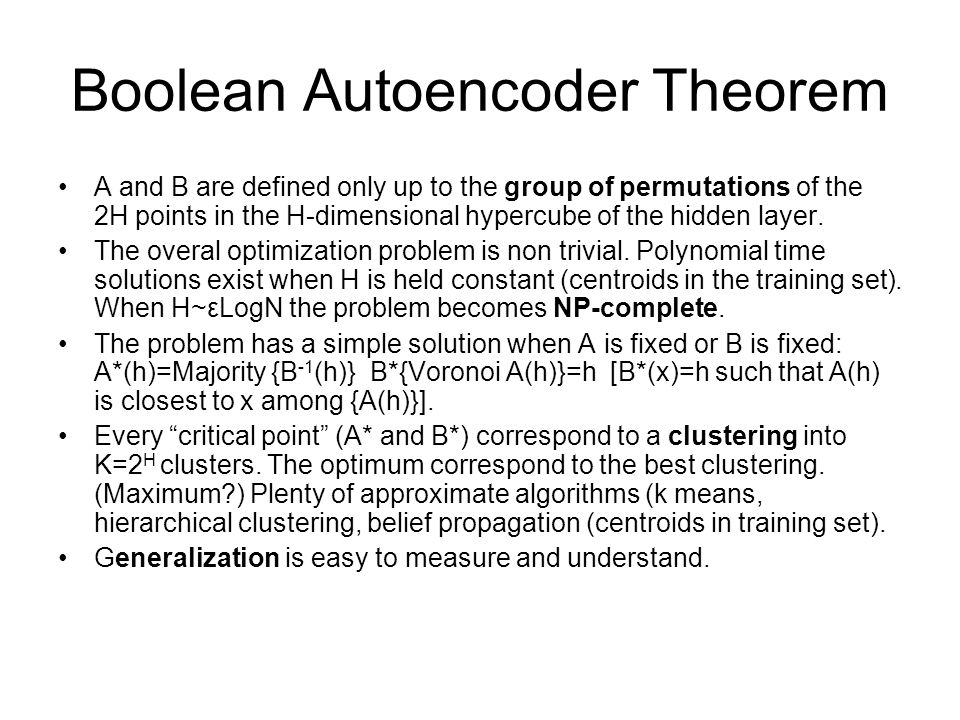 Boolean Autoencoder Theorem