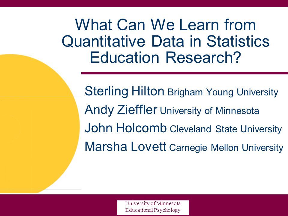 What Can We Learn from Quantitative Data in Statistics Education Research