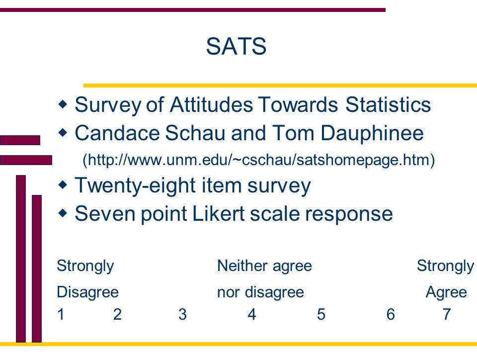 SATS Survey of Attitudes Towards Statistics