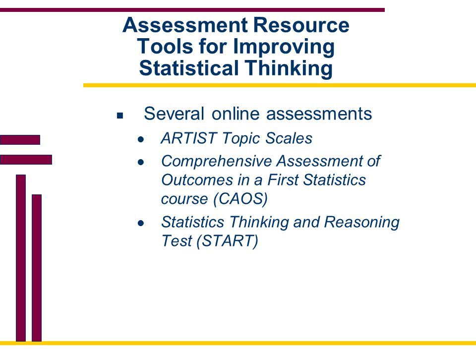 Assessment Resource Tools for Improving Statistical Thinking