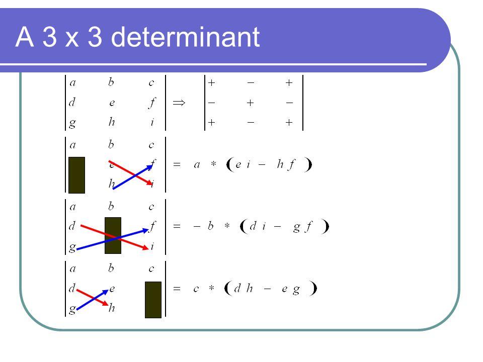 A 3 x 3 determinant