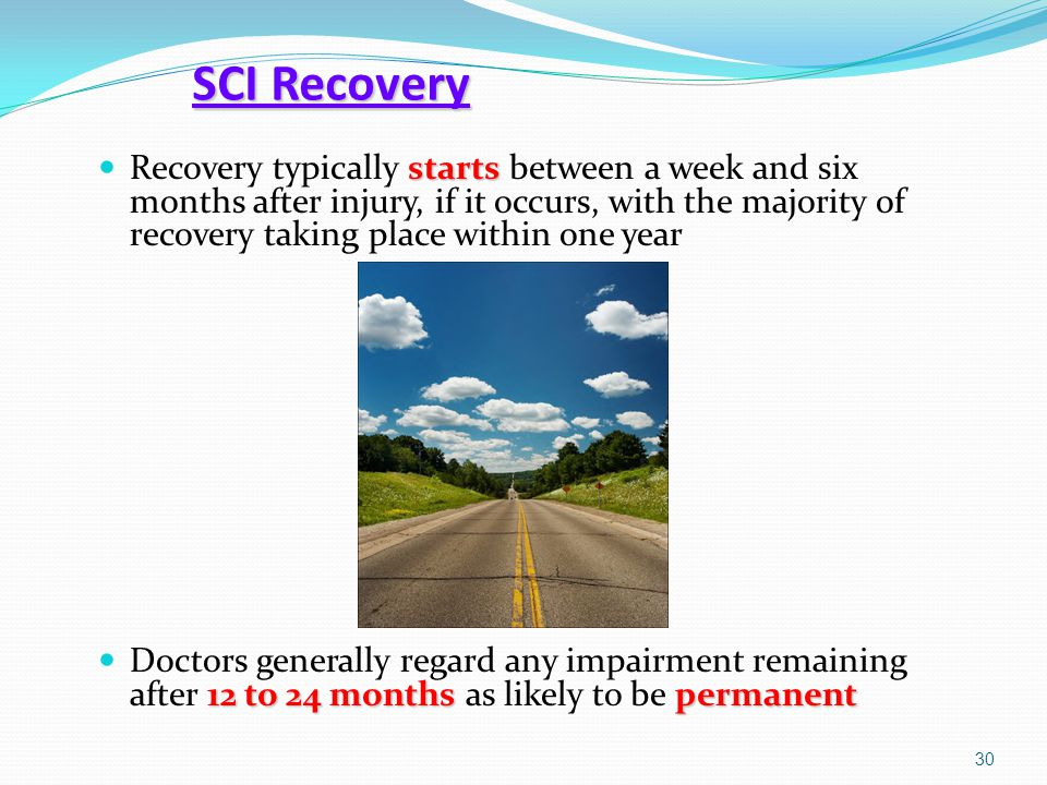 SCI Recovery