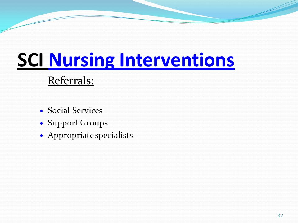 SCI Nursing Interventions