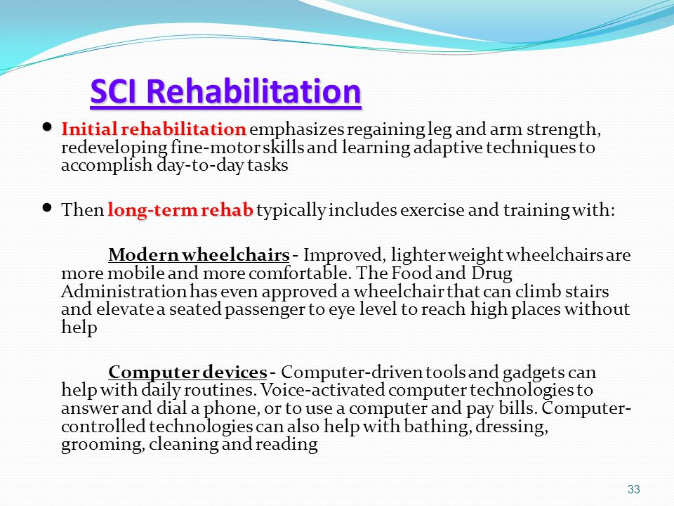 SCI Rehabilitation