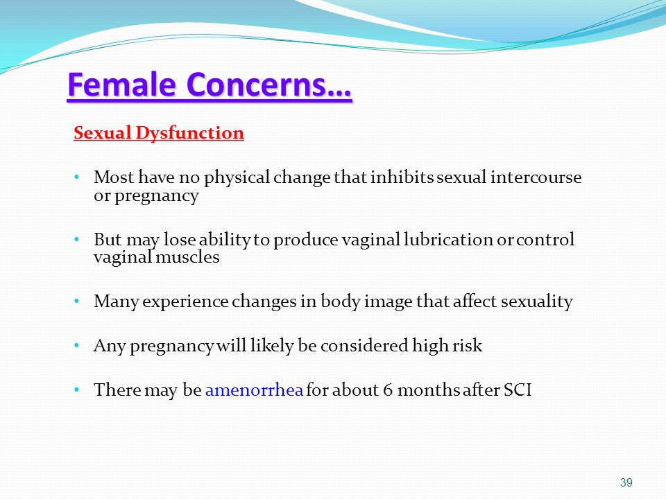 Female Concerns… Sexual Dysfunction