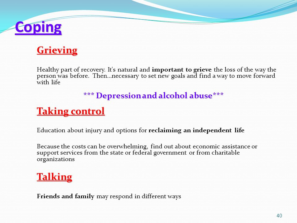 *** Depression and alcohol abuse***