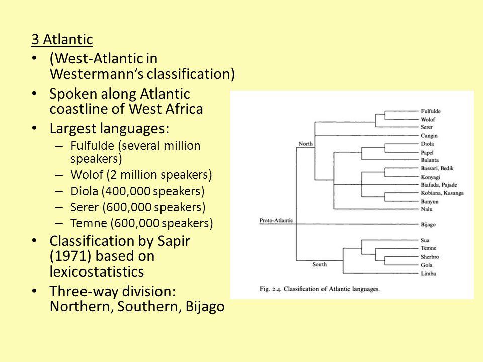 (West-Atlantic in Westermann's classification)