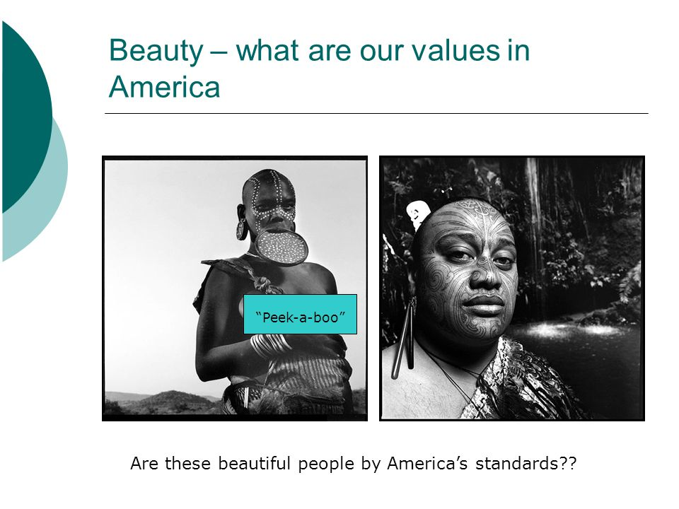 Beauty – what are our values in America