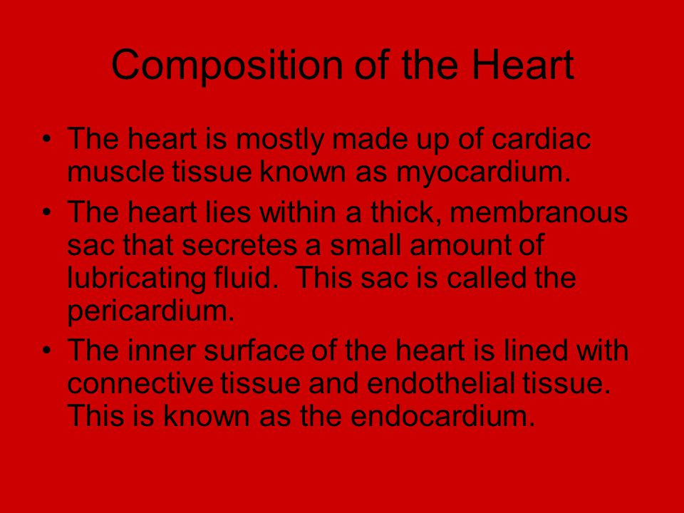 Composition of the Heart