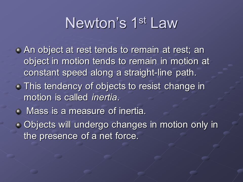 Newton's 1st Law