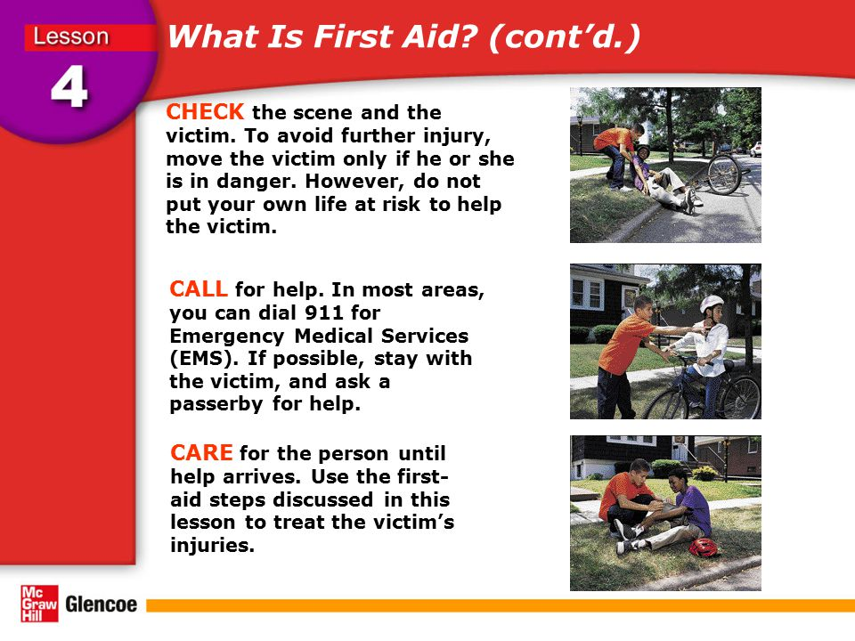 What Is First Aid (cont'd.)