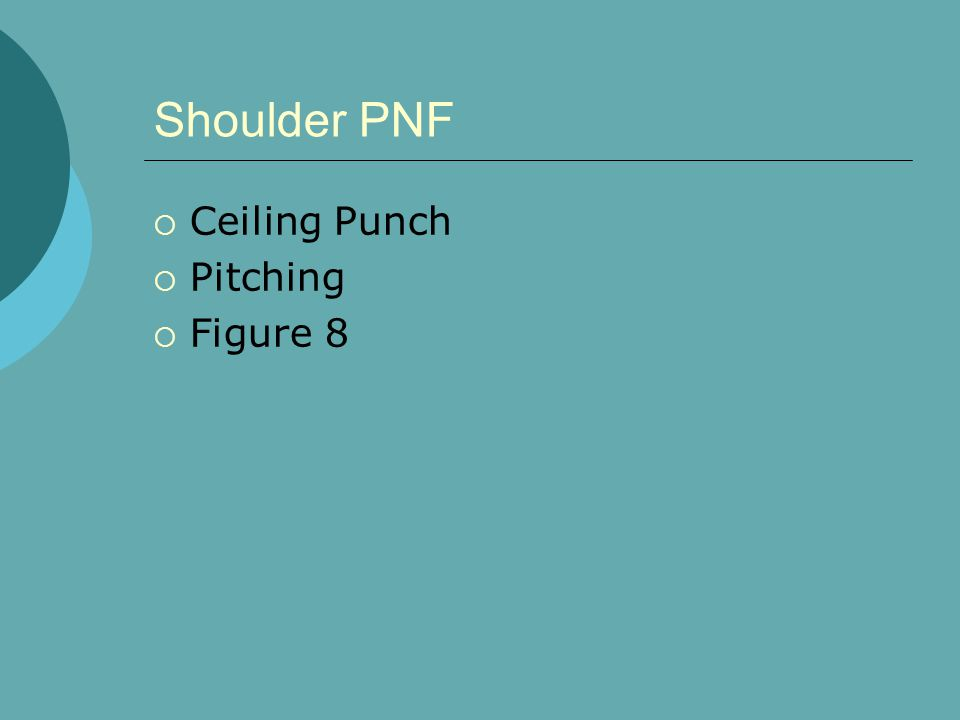 Shoulder PNF Ceiling Punch Pitching Figure 8