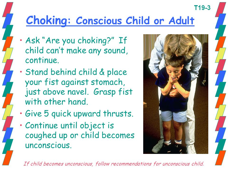 Choking: Conscious Child or Adult