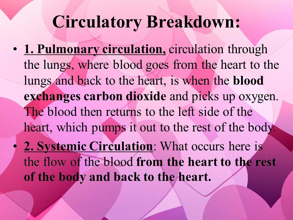 Circulatory Breakdown: