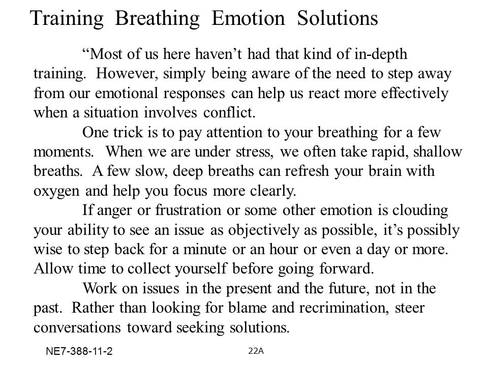 Training Breathing Emotion Solutions
