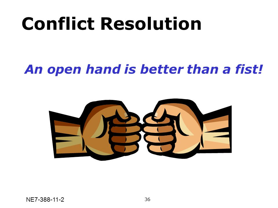 An open hand is better than a fist!