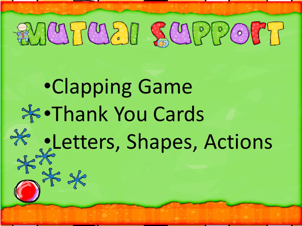 Clapping Game Thank You Cards Letters, Shapes, Actions