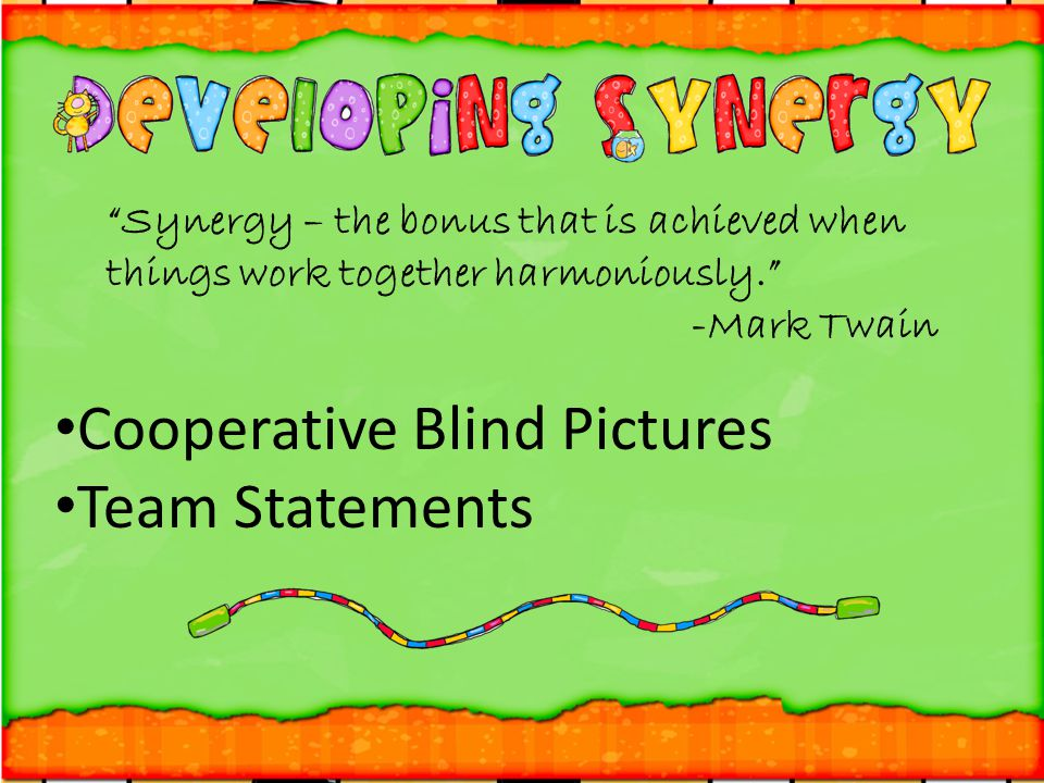 Cooperative Blind Pictures Team Statements