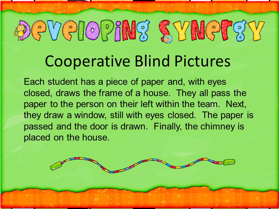 Cooperative Blind Pictures