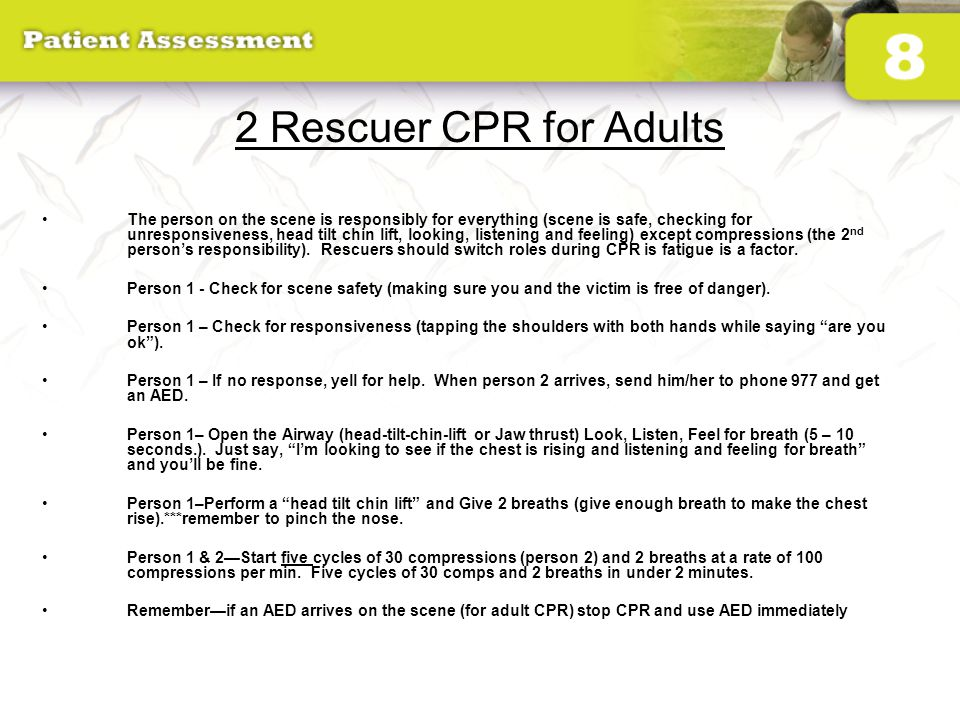 2 Rescuer CPR for Adults