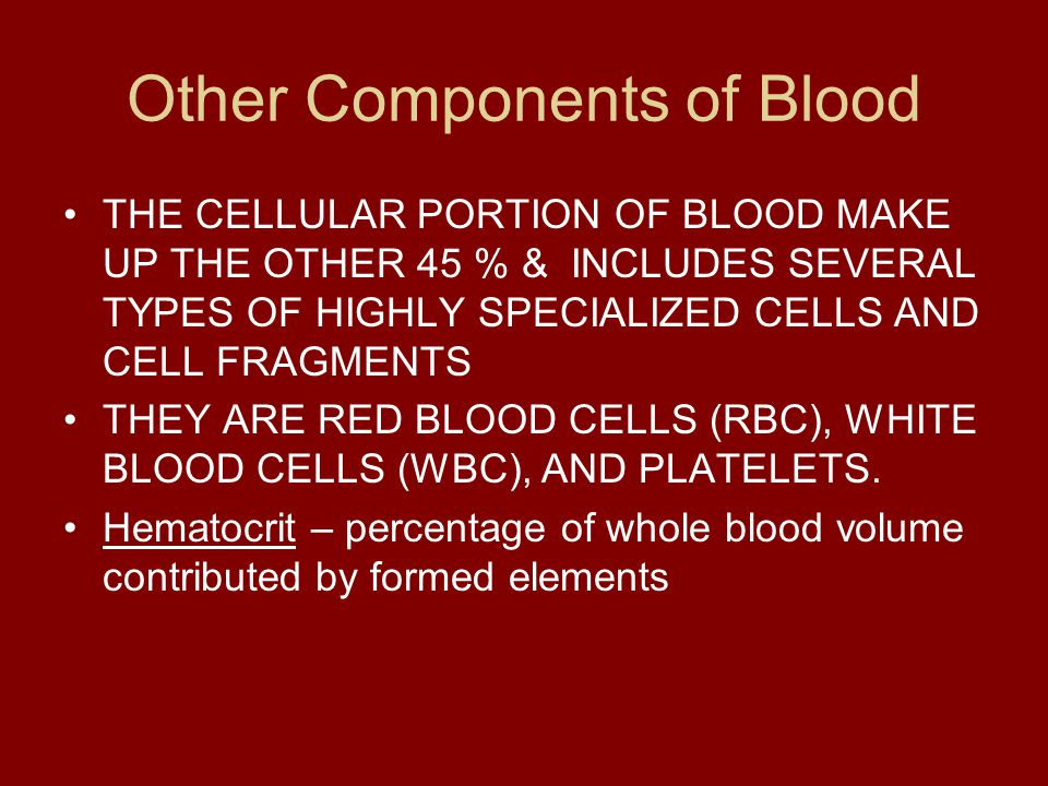 Other Components of Blood