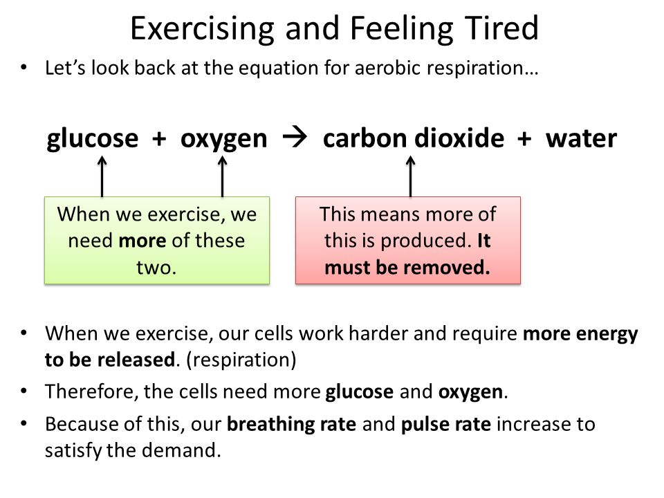 Exercising and Feeling Tired