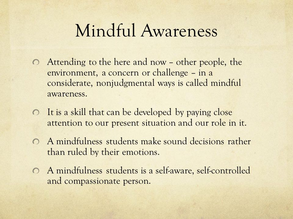 Mindful Awareness