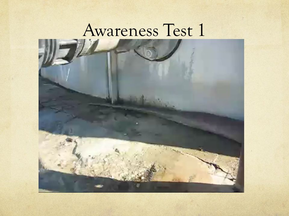 Awareness Test 1