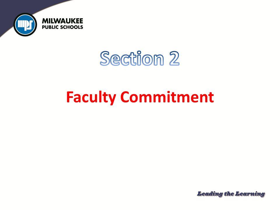 Section 2 Faculty Commitment