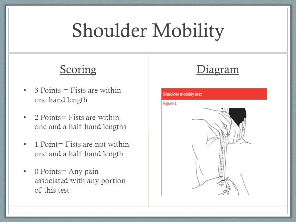 Shoulder Mobility Scoring Diagram