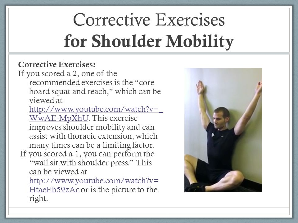 Corrective Exercises for Shoulder Mobility