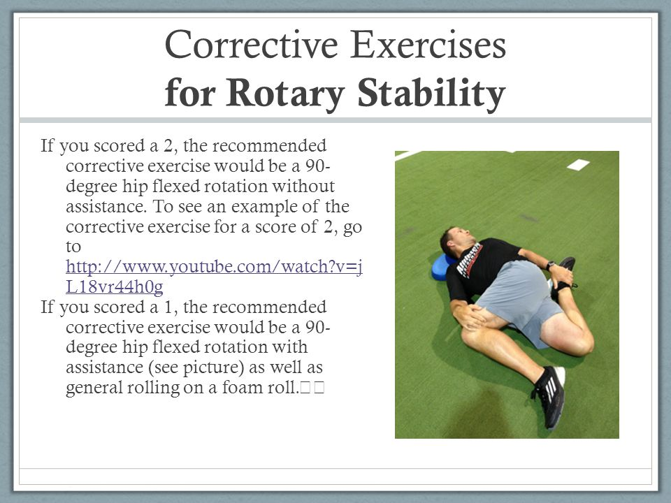 Corrective Exercises for Rotary Stability