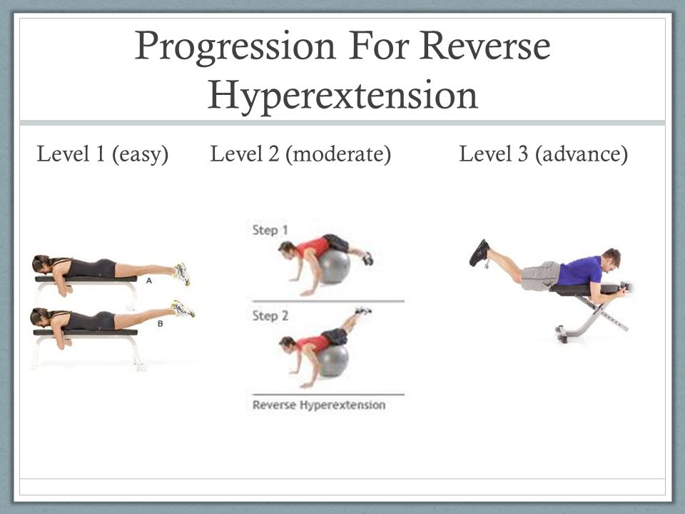 Progression For Reverse Hyperextension