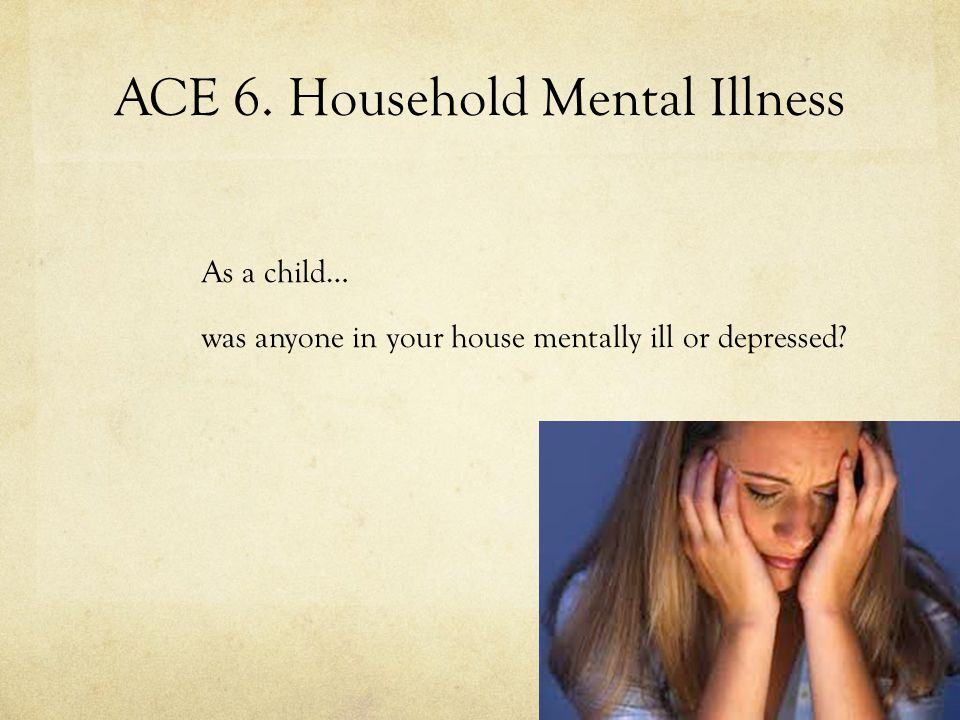 ACE 6. Household Mental Illness