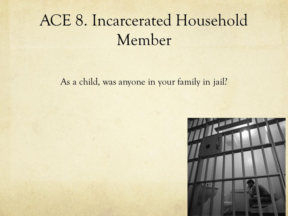 ACE 8. Incarcerated Household Member