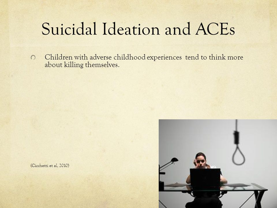 Suicidal Ideation and ACEs